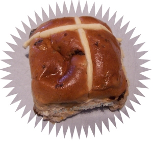 A hot cross bun - not something you usually see in Germany