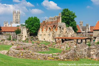 Ruins of  St.Augustines Abbey with Canterbury Cathedral in the background - ©iStockphoto.com/AlexKozlov