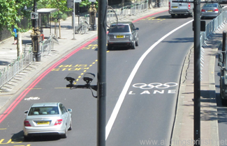 Ein Olympic Lane in London (Foto: C. & L. Tappenden)