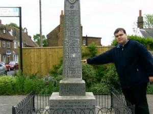 Das Denkmal in meinem Heimatdorf