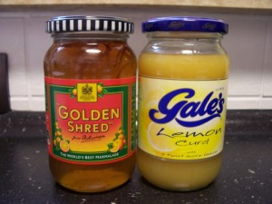 Golden Shred Marmalade und Gale's Lemon Curd