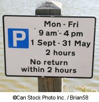 Ein Schild mit Parkbedingungen - ©Can Stock Photo Inc. / Brian58