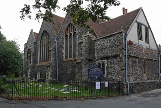 St. Mildred's Church in Canterbury, Kent, England